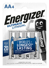 4x Energizer Ultimate Batterie Lithium Aa-mignon Mn1500 Lr6 L91