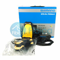 New Shimano PD-R540 SPD SL Road Touring Bike Light Pedals Black with Cleats
