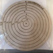 Wooden Circle Stencil Kit Roundel Gyro-cut Circle Cutting Wooden Template Rc