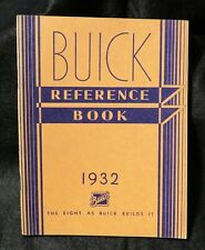 1932 Buick Automobile Reference Book