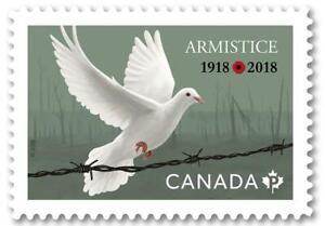 2018 Canada ARMISTICE MNH Single - 100th Anniversary of end WW1