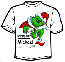 The Grinch T Shirt How The Grinch Stole Christmas Add Name The Naughty List
