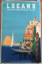 MANIFESTO poster Affiche Vintage, LUGANO SUISSE,SVIZZERA DANIELE BUZZI ART