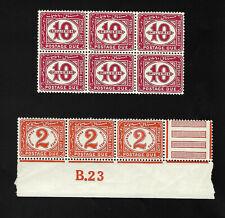 Egypt 1922 selection of Postage Due blocks MNH VF