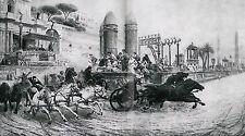 Ben Hur 112 Jahre altes Bild Römisches Wagenrennen im Circus Maximus in ROM 1905