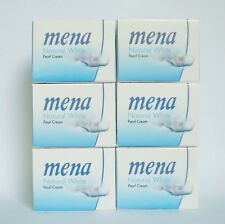 6 PCS x Mena Natural Whitening Dark Spot Freckle Pearl Cream with Vitamin E 3g.