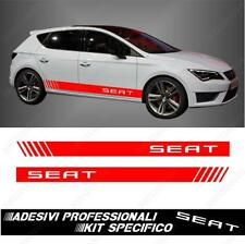 PAIR ADHESIVE STRIPS SIDES RACING FOR SEAT LEON ALTEA ROJO