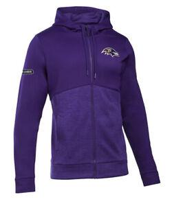 Under Armour Men's Baltimore Ravens Storm Full Zip Jacket Hoodie Medium M NFL