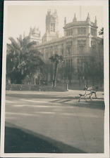 Espagne, Madrid, El Paseo del Prado Vintage print, Photographie provenant d&#039