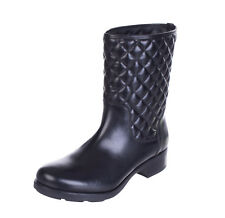 MONCLER Leather Mid-Calf Boots Size 36 UK 3 Quilted Made in Italy RRP €469
