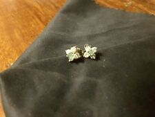Emerald and Diamond flower earrinngs