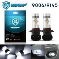 NEW 2x 9006 HB4 3000K White Cree Led 100W Headlight Bulbs Kit Fog Driving Light