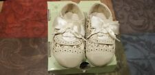 New in Box Sarah Jayne Baby Girl's Jazz Cream Color  Crib Shoes