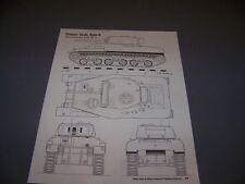 VINTAGE..RAM II CRUISER TANK & M4A1 CRUISER TANK....4-VIEWS.. (283C)