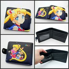 Cosplay Anime Sailor Moon Bow Pu leather wallet bifold short purse Coin purse