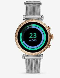 Fossil FTW6043 Womens Gen 4 Sloan HR Mesh Bracelet Strap Touch Screen Smartwatch