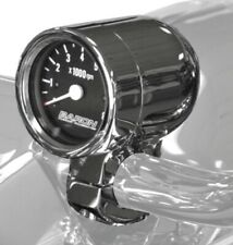 Baron Custom Accessories Bullet Tachometer 1in. - Black Face BA-7570-01* Chrome