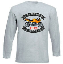 BMW R1100S - GREY LONG SLEEVED TSHIRT- ALL SIZES IN STOCK