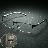 Men Glasses Frame Titanium Body Eyeglasses Clear Eye Lens Optical Spectacle