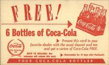 6 Bottles of Coca Cola Coke Adv Postal Card