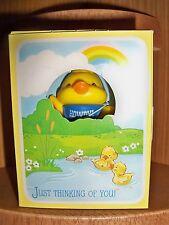 Hallmark Merry Miniature Howdy Duck Greeting 1984 in Box