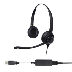 Advanced Binaural Noise Cancelling USB Headset