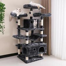 Large Cat Tree Condo with Sisal Scratching Posts Perches Houses Hammock