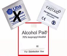 x100 FASTAID  ISOPROPYL ALCOHOL SWABS WIPES CPU Fastaid TATTOO Nail Polish
