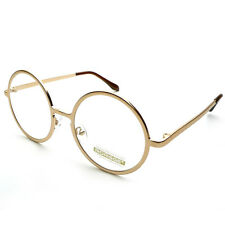 9e9b2f426c Vintage Classic Super Oversized Round Circle Frame Clear Lens Glasses  Eyeglasses