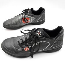 Carbrini Junior Football Boots, Astro Turf, Black / Silver / Red, Size UK 5