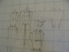 vintage Funky, Hip, Fashion Drawing: a few ideas rectangle top line huge glasses
