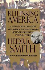 "HEDRICK SMITH SIGNED ""RETHINKING AMERICA"" FIRST EDITION HC/DJ!"