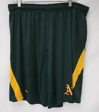 Nike MLB Oakland A's Athletic Shorts Green/Yellow Men's 3XL