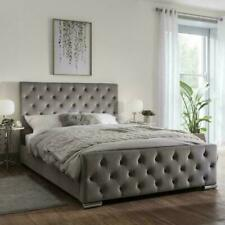 iBEX PLUSH VELVET  Upholstered Bed frame , MADE IN UK