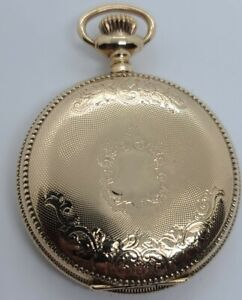 Antique 1905 ELGIN Ladies 15J Gold G.F. Victorian Full Hunter Pocket Watch 6s