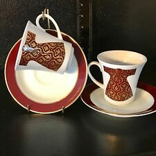 Set of 2 KUTAHYA PORSELEN Turkish Coffee Espresso Cups 4 Ounces