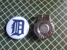 GOLF / Detroit Tigers Logo Golf Ball Marker/with Magnet Hat Clip New!!
