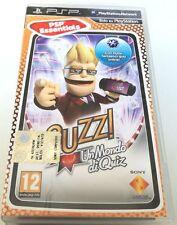 BUZZ! UN MONDO DI QUIZ PSP SONY PLAYSTATION GIOCO NUOVO NON SIGILLATO ITALIANO