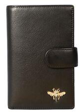 Mala Leather tab purse RFID premium leather 3471 27 Black bumble bee MASON