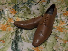 Daniel Hechter Schuh 43 Mokassin Leder Schnürschuhe Schnürer Business Budapester