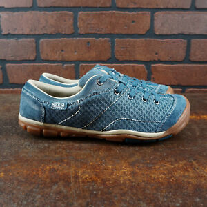 VGC! KEEN Mercer Lace II CNX 1012359 Womens Size 9.5 Casual Outdoor Shoes Blue