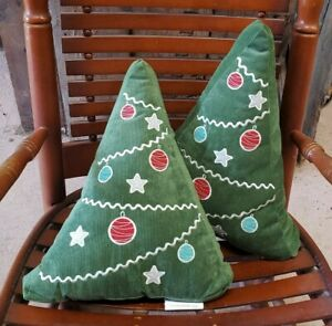 Holiday Pillow Pair Decorative Christmas Trees