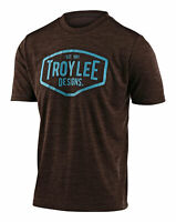 Troy Lee Designs 2020 Flowline MTB Jersey Heather Dark Mocha/Blue All Sizes