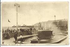 ISLE OF MAN - DOUGLAS, FOUNTAIN & PIER  Photochrom Postcard