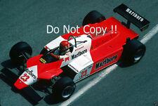 Bruno Giacomelli Alfa Romeo 182 Monaco Grand Prix 1982 Photograph