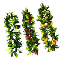 3Pcs Hawaiian Leaf Garland Luau Leis Necklace Tropical Party Blossom
