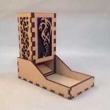 Dragon Dice Tower Dark Blue Acrylic Window Laser Cut MDF v4