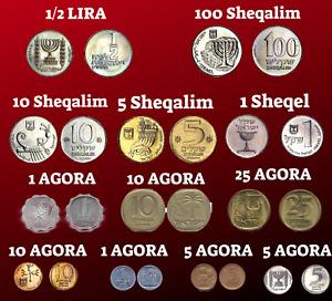 Set of Israeli Sheqel & Lira & Agora - Israel Coin - World Coins Lot Collection