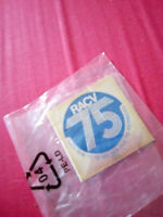 Vintage RACV 75 Years Service Sticker Unused as New Collectable