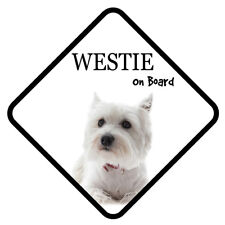 WESTIE Dog On Board Car Sign With Sucker Sticker Decal